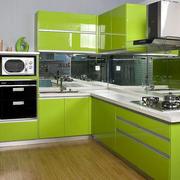 清新绿色橱柜展示