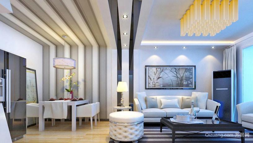 现代老房屋改造后客厅装修效果图