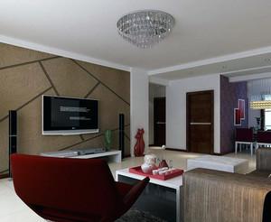 120平米大户型电视硅藻泥背景墙装修效果图