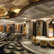 餐厅精美地板展示