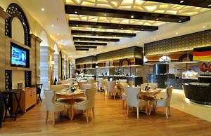 2016都市高端大型西餐厅设计装修效果图