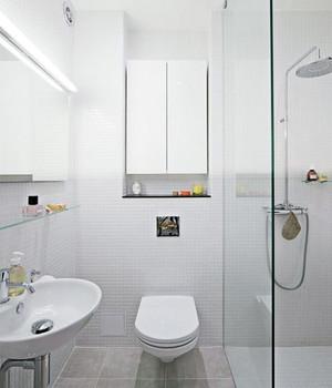 70平米欧式小卫生间瓷砖背景墙装修效果图