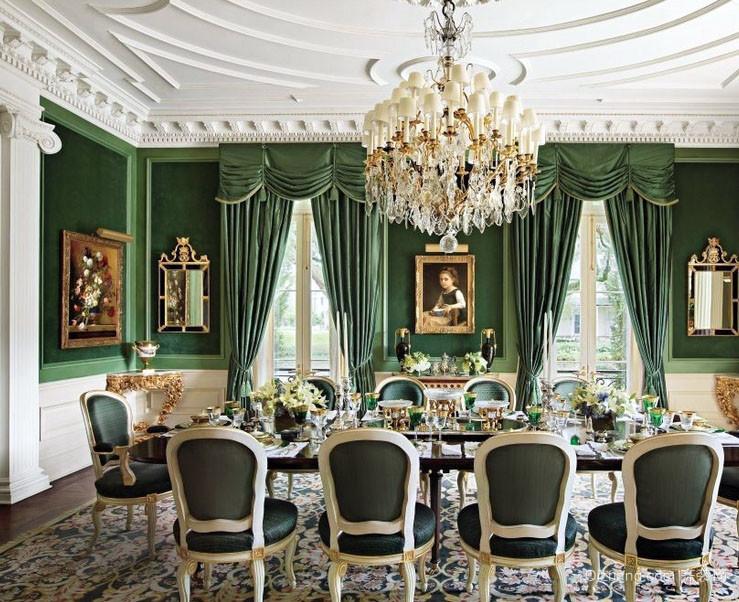 古典巴洛克风格大户型餐厅装修效果图