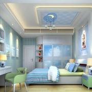 2016清新现代三室一厅儿童房效果图