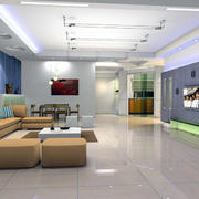 唯美的现代欧式大户型两室一厅客厅装修效果图