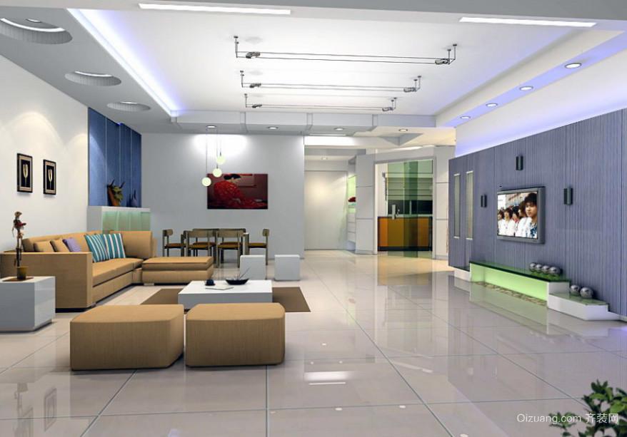 平米大户型电视硅藻泥背景墙装修效果图