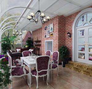欧式别墅现代露台阳光房装修效果图