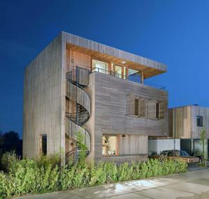 2016唯美风格木制别墅外观设计效果图