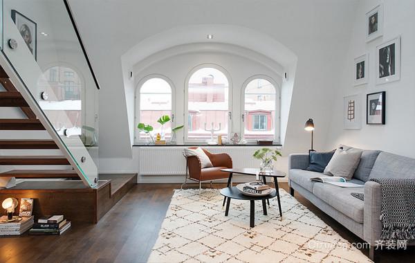 复式小家:北欧风格50平米公寓装修效果图