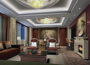 2016大户型精致的美式风格新房客厅装修效果图