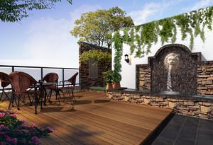 2016都市精美的别墅型屋顶花园装修效果图