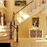 暖色调简欧楼梯设计