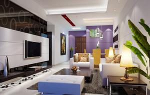 现代浪漫家居客厅