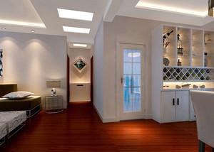 三室两厅两卫现代走廊吊顶设计装修效果图