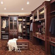 贵气豪华:大型衣帽间简欧衣柜设计效果图
