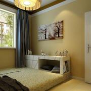 朴素初中生小房间榻榻米床装修效果图