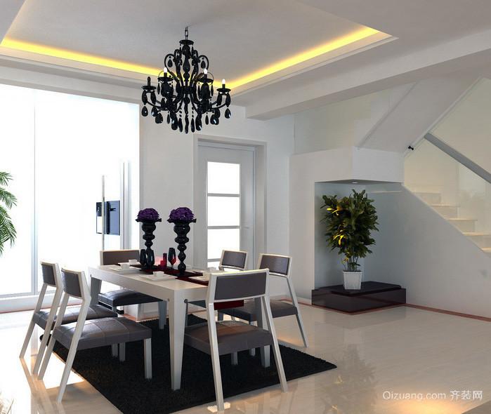 90平米大户型精致现代简约餐厅装修效果图