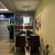 暖色调餐厅设计图