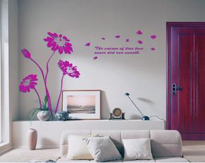 精装混搭风格大户型客厅立体墙贴装修效果图