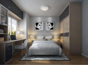 简欧风格小户型空间卧室背景墙创意设计装修效果图