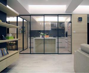 2016欧式大户型厨房推拉门装修效果图