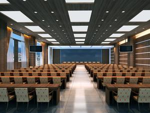 唯美大气中式风格会议室吊顶设计装修效果图