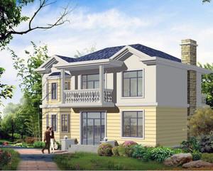 2016经典造型农村别墅户型外观设计效果图