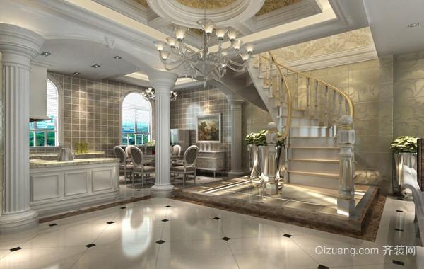 温馨二层别墅简欧风格楼梯装修效果图
