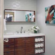 2016大户型欧式浴室浴室柜装修效果图