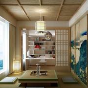 10平米书房榻榻米日式风格装修效果图