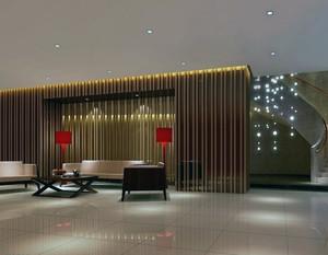 2016都市大型精致的宾馆大厅吊顶装修效果图