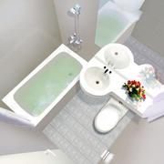 现代浴室设计整体图