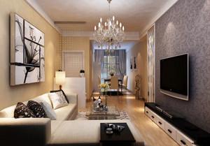 时尚都市116平米家居客厅装修效果图