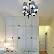 2016简约地中海卧室白色衣柜设计效果图