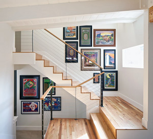 唯美别墅型后现代装修风格室内楼梯装修效果图