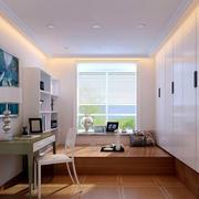 现代12平米小书房榻榻米装修效果图