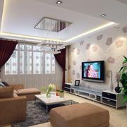 客厅窗帘整体设计