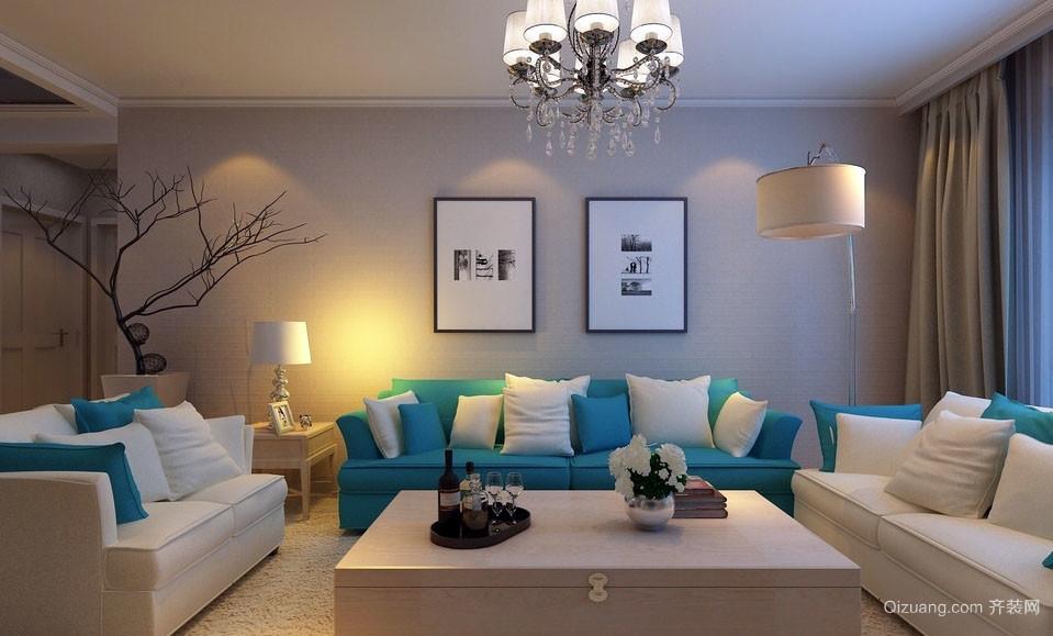95平米小户型简约舒适客厅装修设计实例