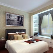都市单身公寓卧室榻榻米飘窗设计装修图