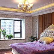 两室一厅卧室简约飘窗设计装修效果图