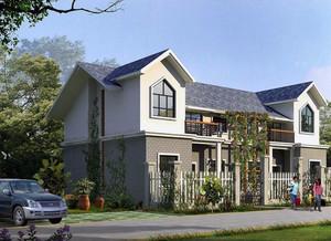2016现代简约风格农村二层房屋设计装修效果图