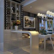 小户型现代家居餐厅吧台装修设计实例