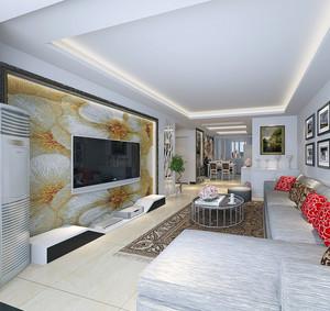 100平米现代室内欧式电视背景墙装修效果图鉴赏