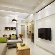 白色纯洁的电视墙欣赏