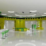清新绿色展厅图片