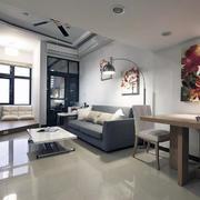 欧式风格唯美40平米小户型客厅装修效果图