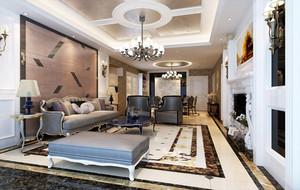 欧式新古典254平米家居装饰设计效果图