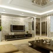 客厅电视墙隔断欣赏