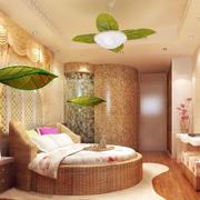 都市商务酒店田园风格卧室装修效果图