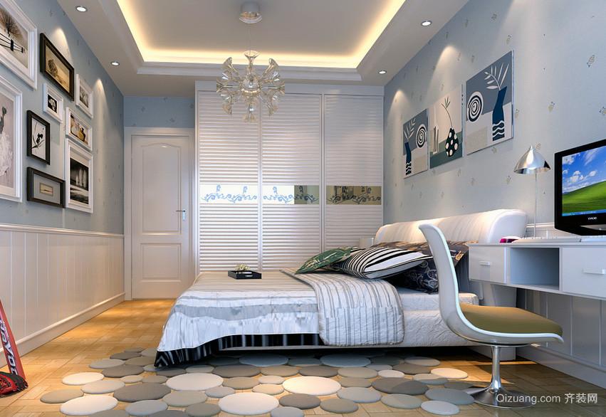 舒适大户型地中海风格卧室背景墙装修效果图